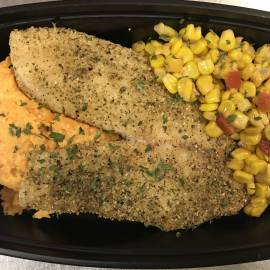 HERB CRUSTED TALAPIA
